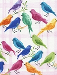 Daydream Watercolor Birds C4417 Pink, Timeless Treasures