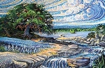 Artisan Spirit Dreamscapes Panel DP21295 2 Tree River, Northcott