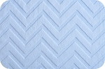 Shannon Cuddle Embossed Chevron Baby Blue Plush Poly
