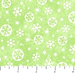 Snow Bears Flannel F21715 73 Circle Snowflake Lime, Northcott