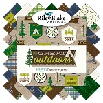 Great Outdoors C6751 Brown Baby Cakes Quilt Kit, Riley Blake