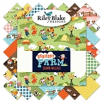 Harmony Farm C6690 White Baby Cakes Quilt Kit, Riley Blake