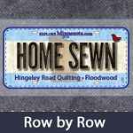 Row by Row 2016 Home Sewn Plate