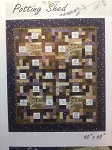The Potting Shed Panel Quilt Kit, Holly Taylor Antler Quilt Design with Green Border