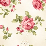 Welcome Home Flannel F8360 E Cream Floral, Maywood Studio