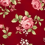 Welcome Home Flannel F8360 R Red Floral, Maywood Studio