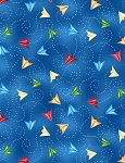 Ready for Takeoff 65188 437 Paper Airplane Blue, Wilmington Prints