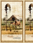 Greener Pastures 82488 227 Horse and Barn Panel, Wilmington Prints