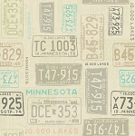 Quilt Minnesota 2016 Y1983 12 Khaki License Plate, Clothworks