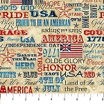 Stonehenge Old Glory 39341 12 Patriotic Words, Northcott