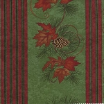 Turning Leaves 6570 11 Border Stripe Light Green, Holly Taylor by Moda