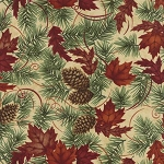 Turning Leaves 6571 12 Large Leaves Pine Natural, Holly Taylor by Moda
