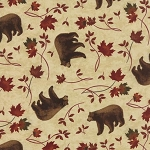 Turning Leaves 6572 12 Bears Natural, Holly Taylor by Moda