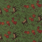 Turning Leaves 6573 11 Deer Light Green, Holly Taylor by Moda