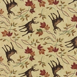 Turning Leaves 6573 12 Deer Natural, Holly Taylor by Moda