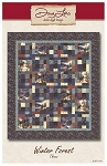 Winter Forest Throw Pattern ADQ244, Antler Quilt Design
