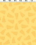 Woodland Friends II Clothworks Y0582 9 Yellow Scattered Trees