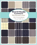 Wool and Needle IV Flannel Layer Cake, Primitive Gatherings by Moda