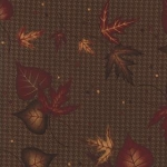 Timber Trail Flannel 6561 13F Brown Large Leaf, Holly Taylor by Moda