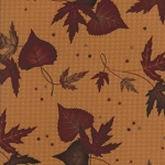 Timber Trail Flannel 6561 16F Gold Large Leaf, Holly Taylor by Moda