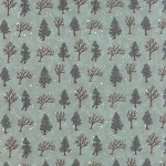 Winter Forest Flannel 6602 20F Green Trees, Holly Taylor by Moda