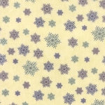 Winter Forest Flannel 6604 11F Cream Snowflakes, Holly Taylor by Moda