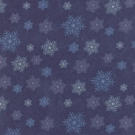 Winter Forest Flannel 6604 15F Blue Snowflakes, Holly Taylor by Moda