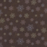 Winter Forest Flannel 6604 19F Brown Snowflakes, Holly Taylor by Moda