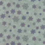 Winter Forest Flannel 6604 20F Green Snowflakes, Holly Taylor by Moda