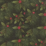 Winters Song 6591 13 Pine Holly Pine, Holly Taylor by Moda