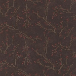 Winters Song 6592 14 Walnut Branches, Holly Taylor by Moda