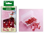 Wonder Clips 3156 Red Mini, Clover 50 Count