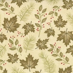Woodland Summer 6544 11 Natural Leaves, Holly Taylor by Moda