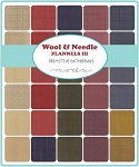 Wool and Needle III Flannel Charm Pack, Primitive Gatherings by Moda