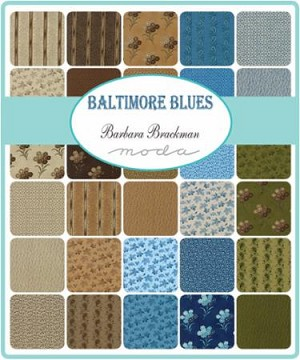 Baltimore Blues Jelly Roll, Barbara Brackman by Moda