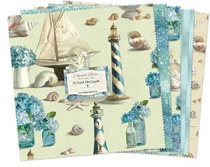"Coastal Bliss 10"" Squares, Wilmington Prints"