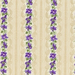 RJR Debbie Beaves Violet Wishes 472 001 Mini Border Stripe Tan