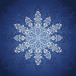 Gradients Holiday 33432 11P Blue Snowflake Digital Panel 60 x 60, Moda