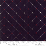Stars and Stripes 1265 16 Star Grid Dark Blue, Primitive Gatherings by Moda