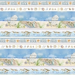Coastal Paradise 1506 11 Border Print, Henry Glass