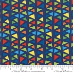 Later Alligator 17984 19 Triangles Dark Blue, Sandy Gervais by Moda