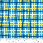 Later Alligator 17986 17 Plaid Light Blue,  Sandy Gervais by Moda