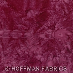 Hoffman Bali Batik Hand dyed Watercolors 1895 561 Bordeaux