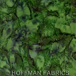 Hoffman Bali Batik Hand dyed Watercolors 1895 580 Cypress