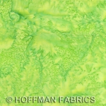 Hoffman Bali Batik Hand dyed Watercolors 1895 F71 French Lime