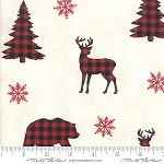 Holiday Lodge 19891 15 Buffalo Plaid Forest White, Deb Strain by Moda