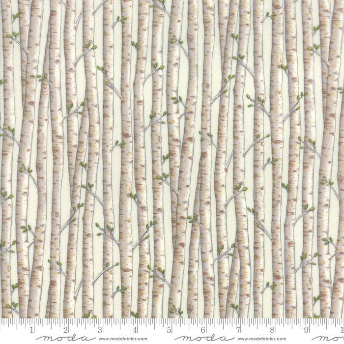 Explore Brushed 19916 11B White Birch Trunks,Deb Strain by Moda