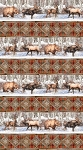 Winter Frost 20878 24 Border Print Repeat, Northcott
