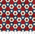 Stonehenge Stars and Stripes VII 22781 49 Hexi Stars, Northcott