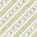 Hydrangea Radiance 23660 174 Diagonal Stripe Ivory Blue Wilmington Prints